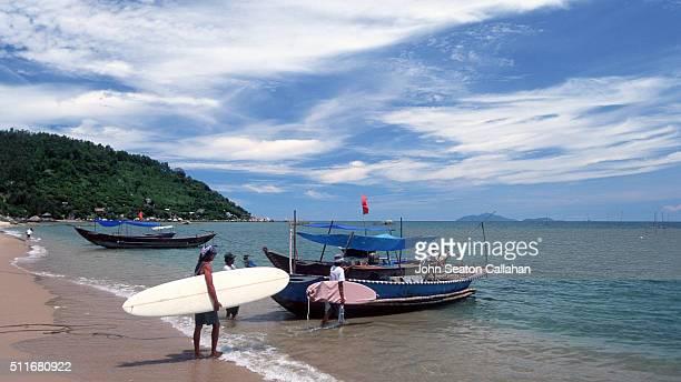 Boarding a boat