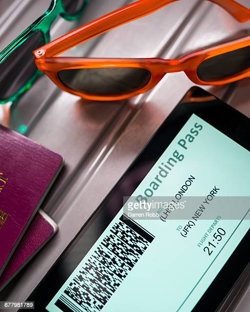Boarding Pass on the screen of a Smartphone