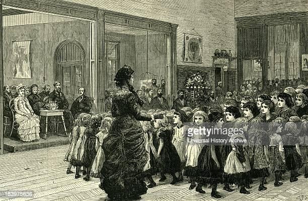 Boarding School 1881 Unitd Kingdom Physical Training Children Gymnastics Teacher Parents