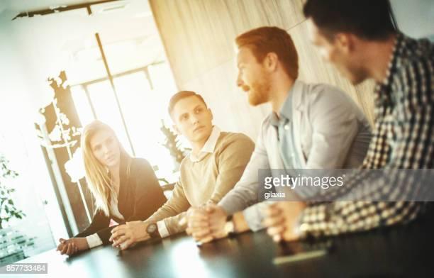 Boardroom meeting.