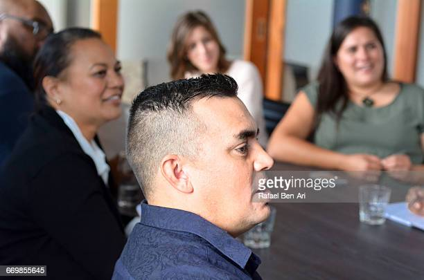 Boardroom presentation during a business meeting