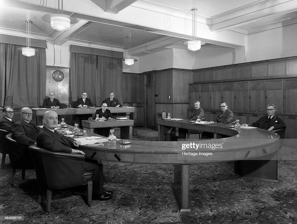 Boardroom scene at the Barnsley Co-op, South Yorkshire, 1957. Artist: Michael Walters : News Photo