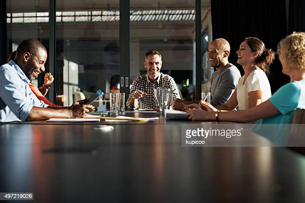 Boardroom strategizing