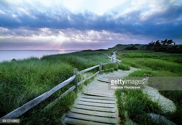 Boardwalk Along Bluff