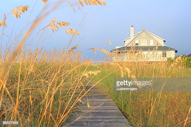 Boardwalk and beach house