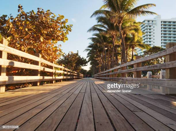 Miami Beach Boardwalk Stock Pictures