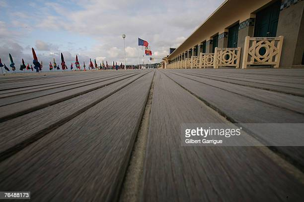 Boardwalk at the beach during the 33rd Deauville Film Festival in Deauville, northwestern France, on August 31, 2007 in Deauville, France.