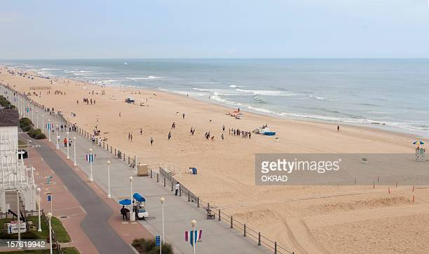 boardwalk at virginia beach - boardwalk stock pictures, royalty-free photos & images