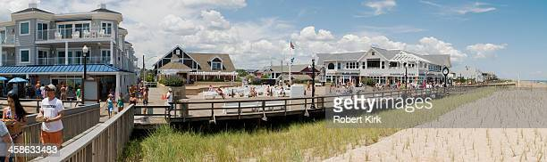 boardwalk - bethany beach delaware, usa - bethany beach stock photos and pictures