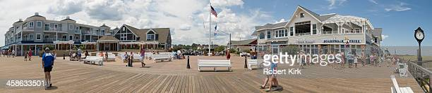 boardwalk - bethany beach, delaware, usa - bethany beach stock photos and pictures