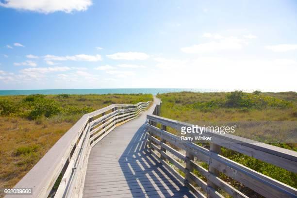 Boardwalk over dunes, Key Biscayne, Florida