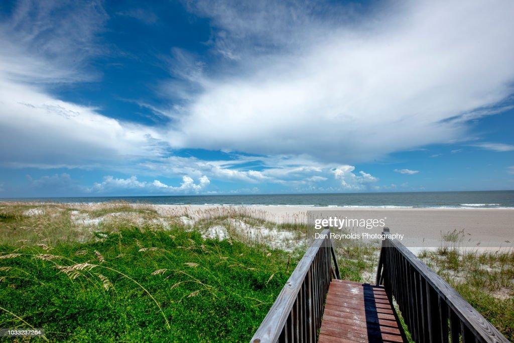 Boardwalk to Beach : Stock Photo