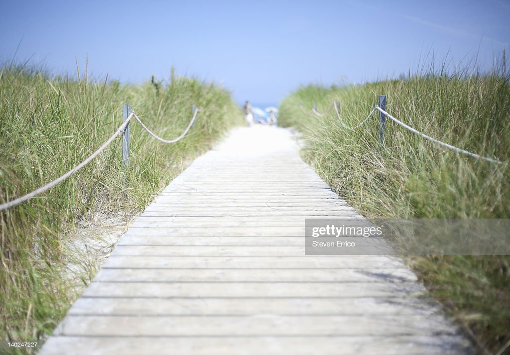 Boardwalk to the beach : Stock Photo