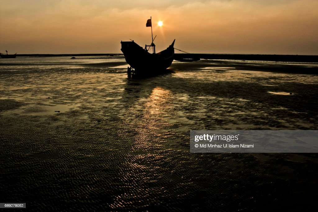 Boat and Sunset : Stock Photo