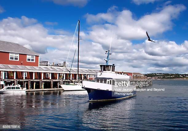 Boat Arriving into Halifax Harbour, Nova Scotia, Canada