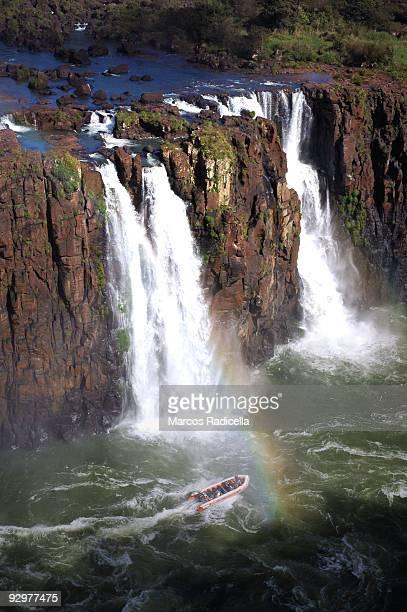 boat at iguazu falls - radicella bildbanksfoton och bilder
