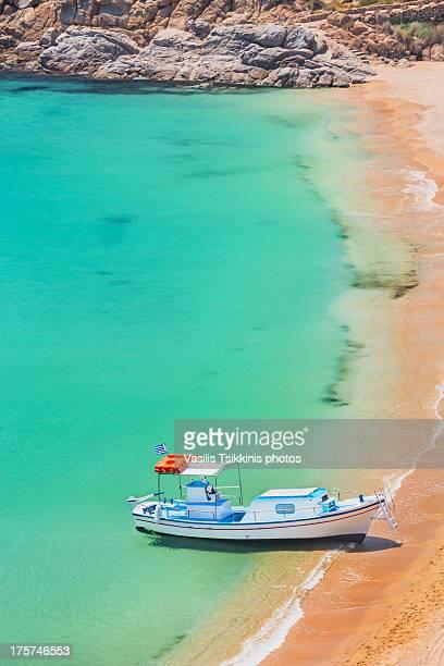 Boat at Super Paradise Beach