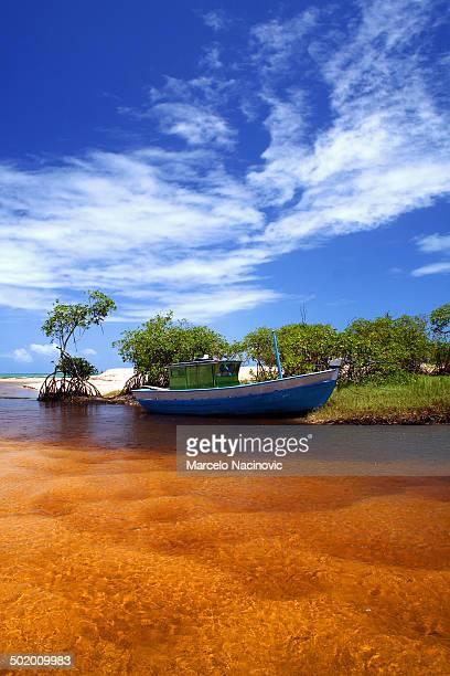 A boat at Trancoso River