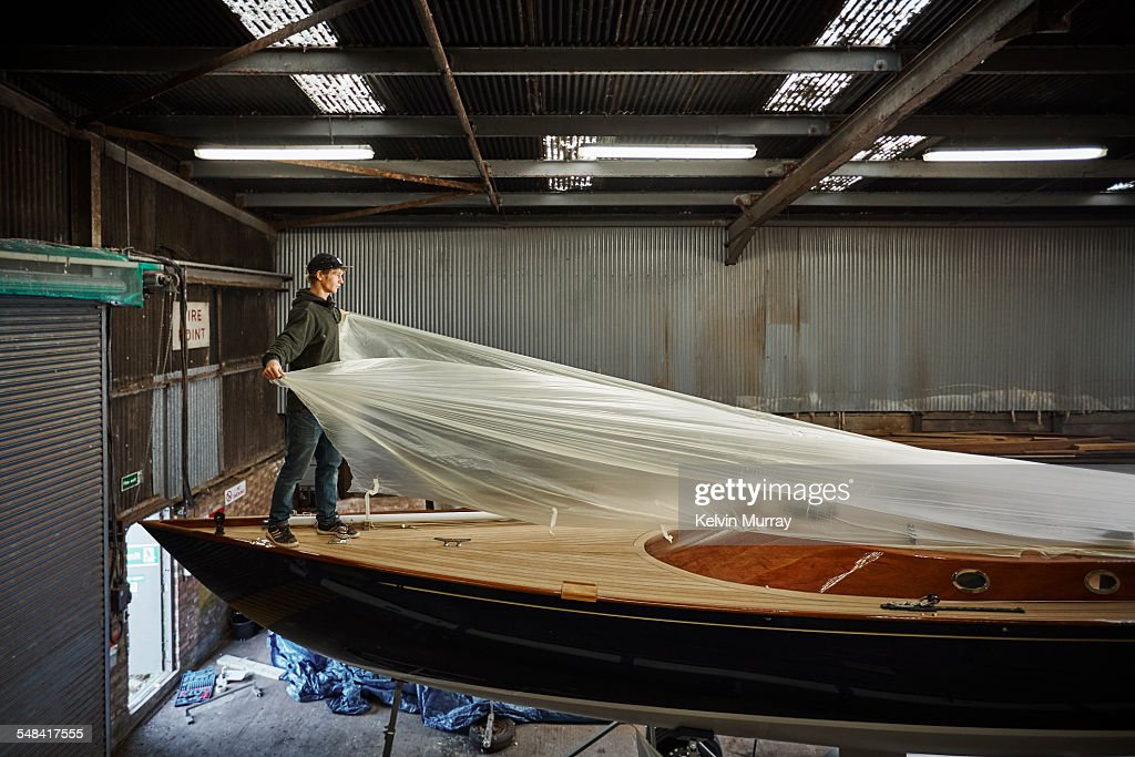 Boat Building Craftsmen : Stock Photo