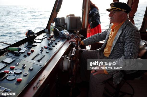Boat Captain Operating Ferry