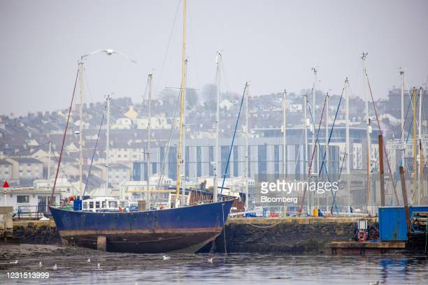 Boat docked in Torpoint near the site of the Devonport freeport in Plymouth, U.K., on Thursday, March 4, 2021. U.K. Chancellor Rishi Sunak unveiled...