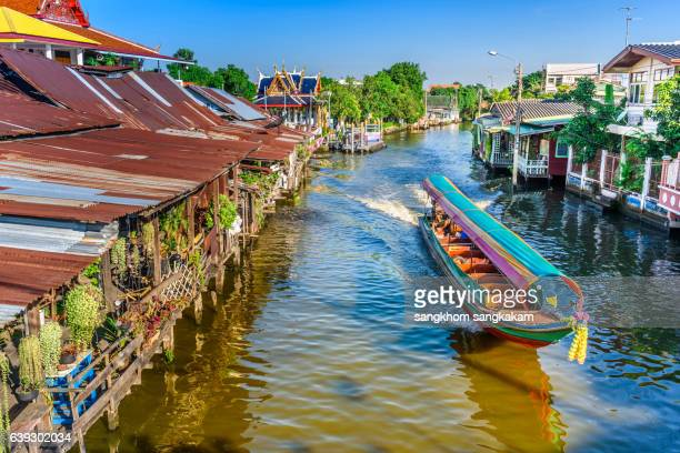 boat for travel in canall,Bangkok Thailand