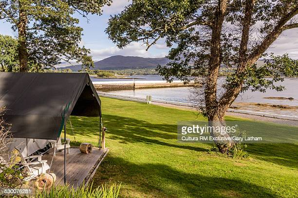 Boat house restaurant in hotel grounds, Kenmare River, County Kerry, Ireland