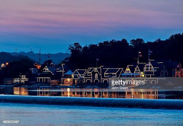 Boat House Row at night