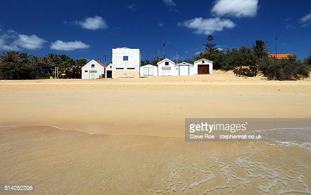 Boat houses and beach huts, Porto Santo
