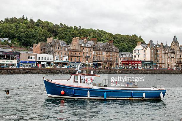 Boat in a port in Oban, Scotland, UK.