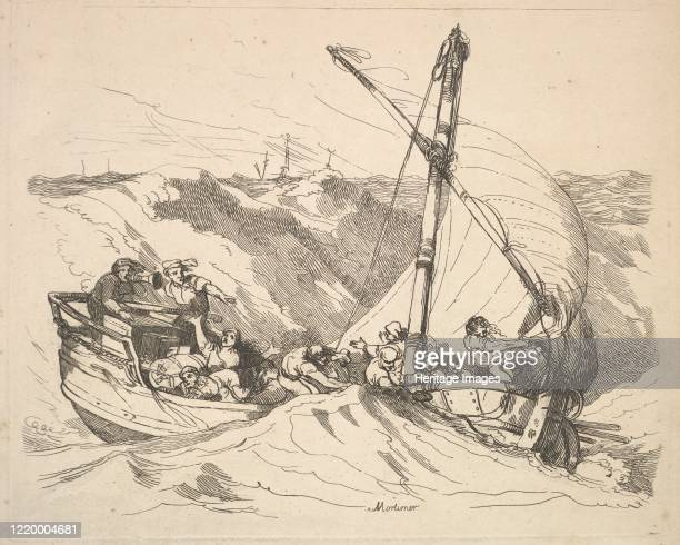 Boat in a Storm at Sea 178488 Artist Thomas Rowlandson