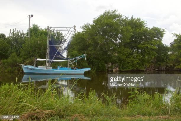 Boat In Bayou, Pointe aux Chenes, LA
