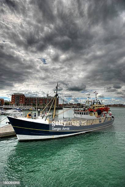 Boat in Portsmouth harbour