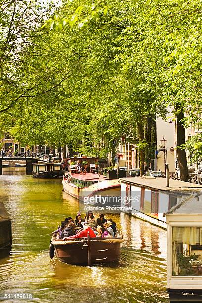 Boat in Rechtboomssloot canal, Amsterdam