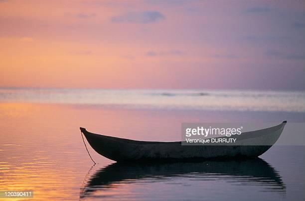 Boat in Sainte Marie island Madagascar