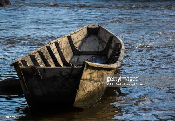 boat in sea - carvajal stock photos and pictures