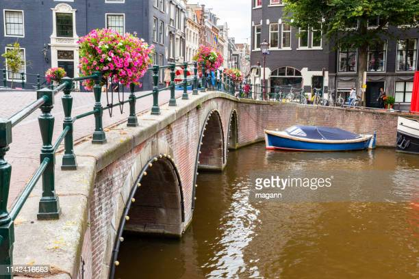 an image boat canals amsterdam