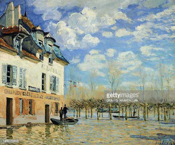 Boat in the Flood at Port Marly by Alfred Sisley oil on canvas 50x61 cm Paris Musée D'Orsay