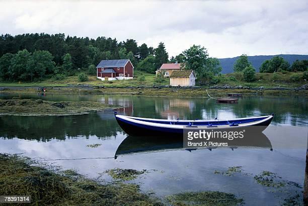 Boat in water, Hjertoya Island, Molde, Norway
