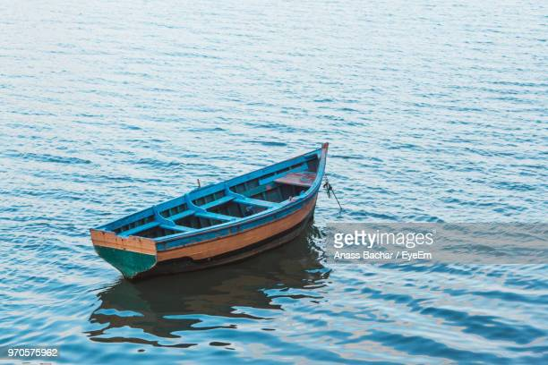 Boat Moored In Sea