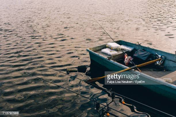 Boat Moored In Water