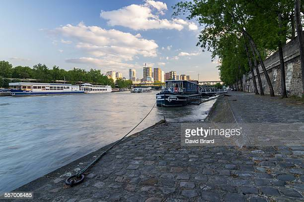 Boat moored on the Seine