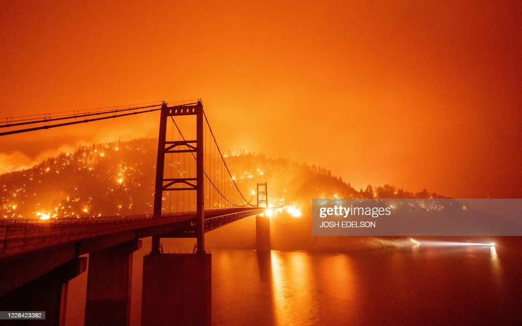 US-WILDFIRES-CALIFORNIA : News Photo