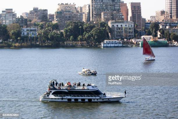 Boat moving in the Nile River in Cairo on Friday February 3 2017