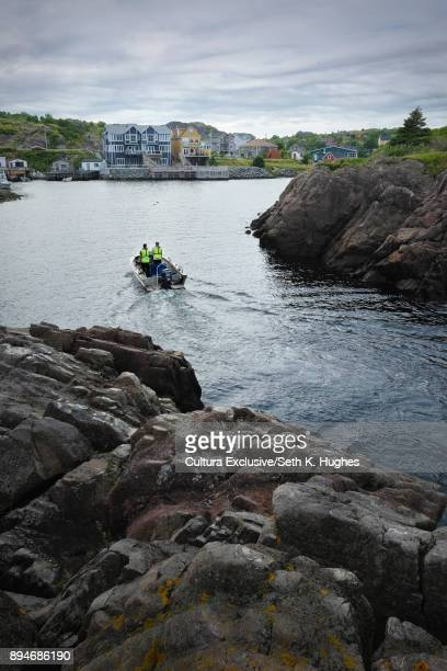 Boat moving toward harbour, Saint Johns, Canada