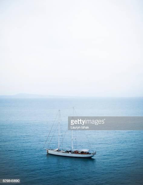 A boat off the coast of Sorrento, Italy