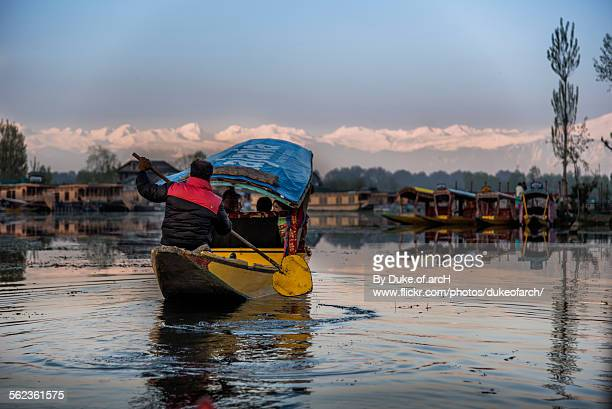 Boat on Dal lake, Kashmir, India