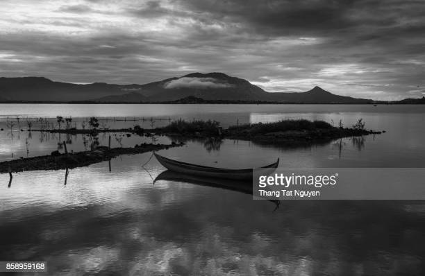 Boat on lake, Ninh Thuan, Vietnam