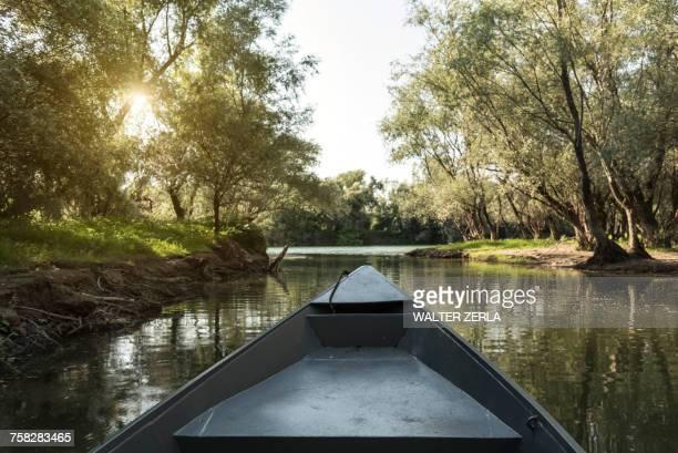 Boat on Lake Scutari, Rijeka Crnojevica, Montenegro,