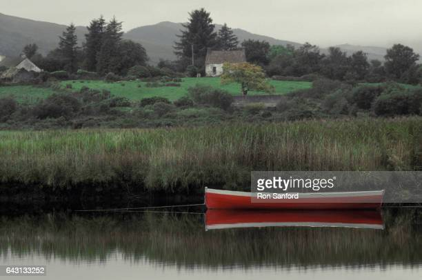 Boat on River Ardsheelaun, Ireland